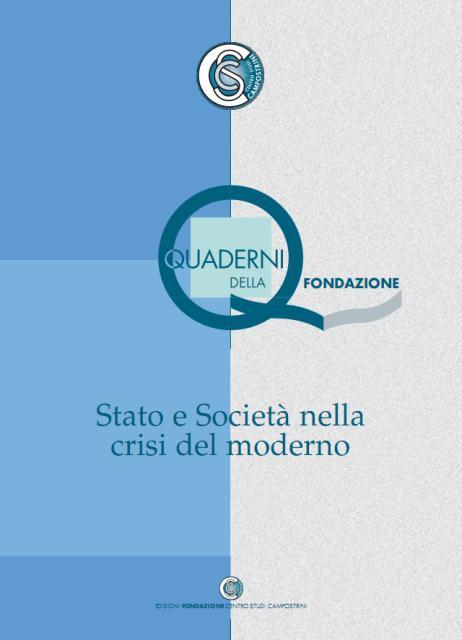 Stato e società nella crisi del moderno