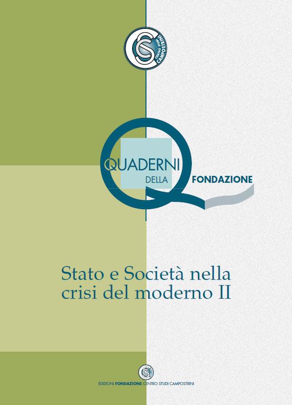 Stato e società nella crisi del moderno II