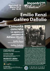 EMILIO RENZI presenta COMUNITA' CONCRETA. Le opere e il pensiero di Adriano Olivetti